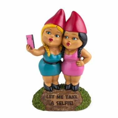 Tuinkabouters selfie zusters 23 cm